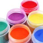 gekleurde acrylpoeders