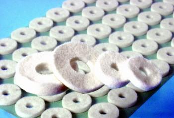 viltringen ovaal klein 3 mm 12 stuks