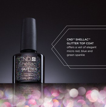 cnd shellac glitter top coat 7,3ml