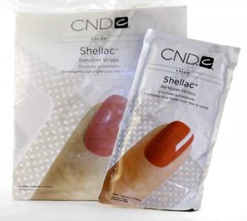 cnd shellac remover wraps per 10 stuks