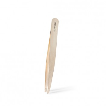 kyv rose gold tweezers slanted