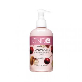 cnd hand & bodylotion 245 ml black cherry & nutmeg