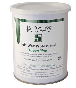 hairaway soft wax groen 800 ml metalen pot
