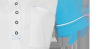 schort carmen 26 wit/turquoise xs