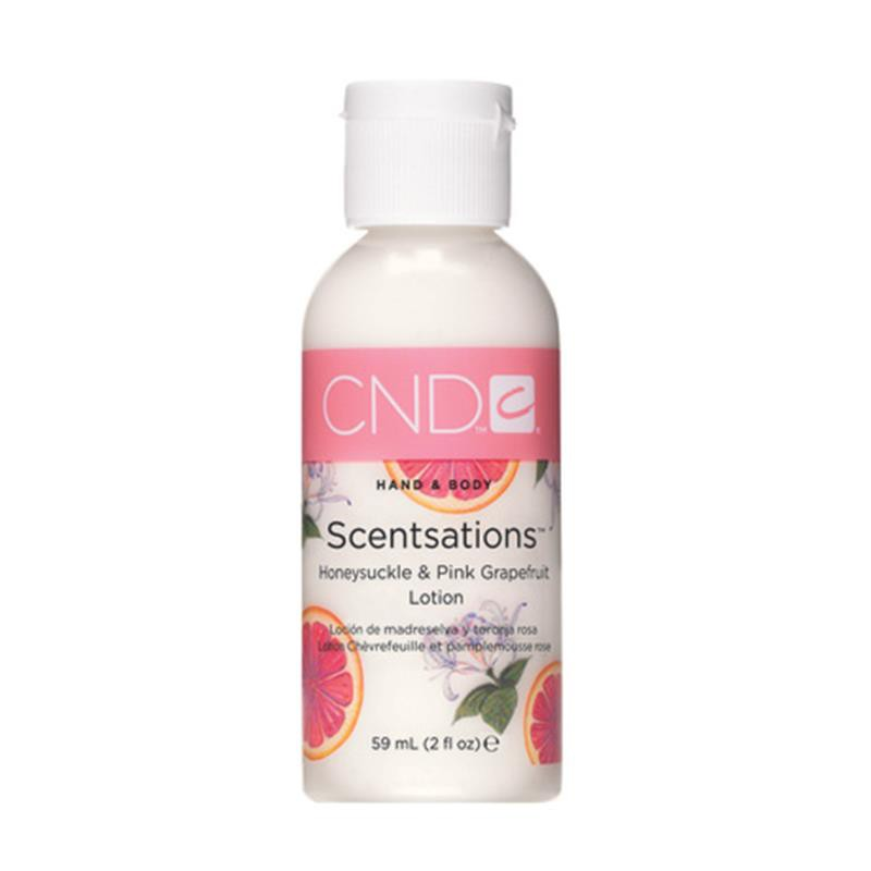 cnd hand & bodylotion 60 ml honeysuckle & pink grapefruit