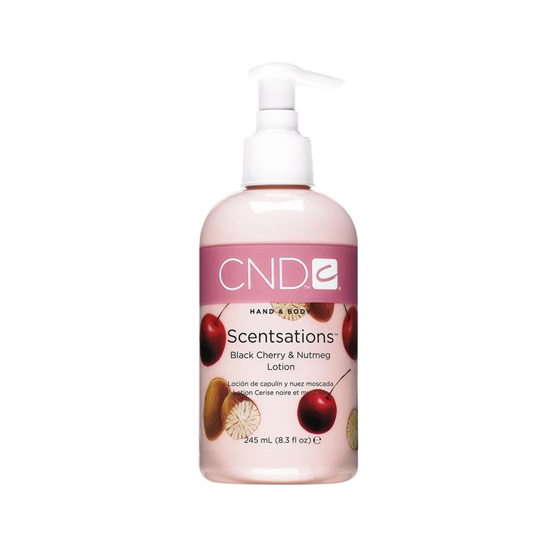 cnd hand & bodylotion 245 ml black cherry & nutmeg